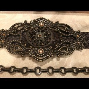 Chico's Accessories - 🌹BOGO🌹CHICO'S Ornate Metal Braided Leather Belt